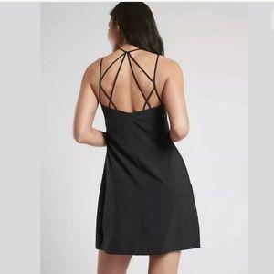 ATHLETA Breathe In Bra Dress Black NWT